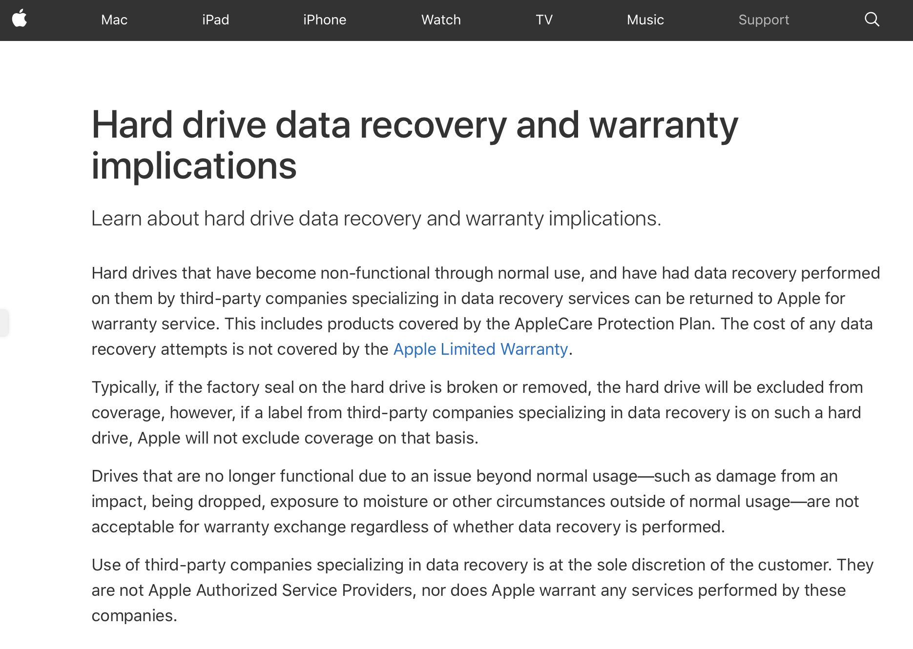 Screen Shot Apple And Datarecovery